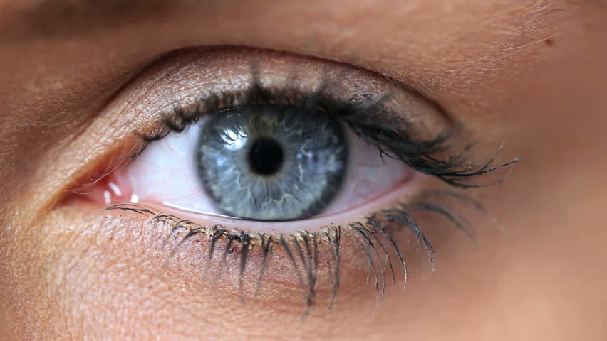 Video of a woman opening her blue eye | Shutterstock HD Video #4876112