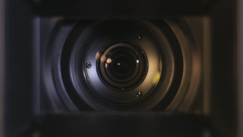 Camera Lens Reflection And Flare With Motion Stock Footage Video ... Video Camera Lens Reflection