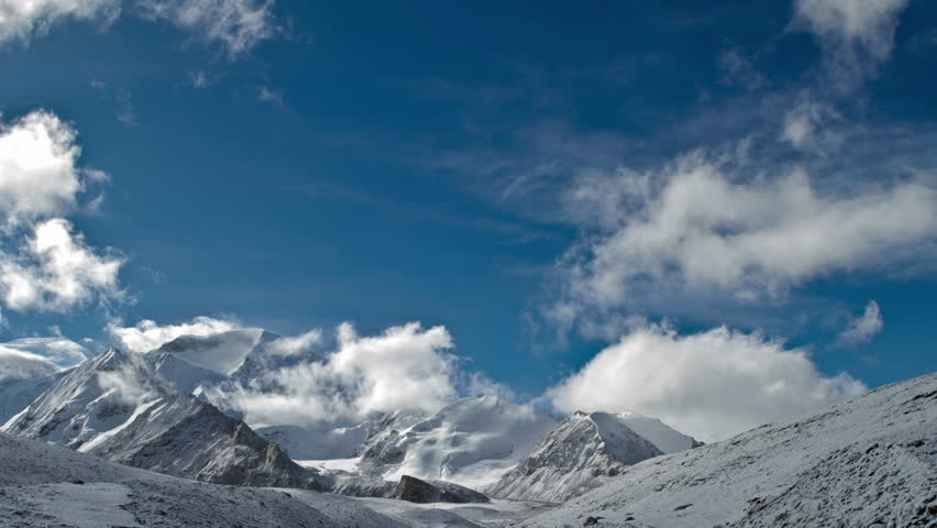 Clouds move above Cho Oyu - HD stock video clip