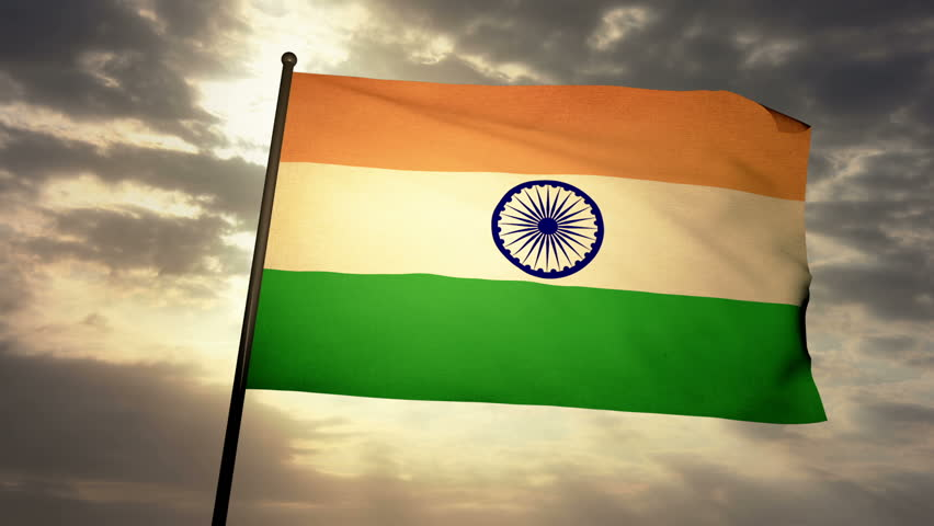 Indian Flag Images Hd720p: 4K India Earth Zoom In 3D Animation With Matte Layers