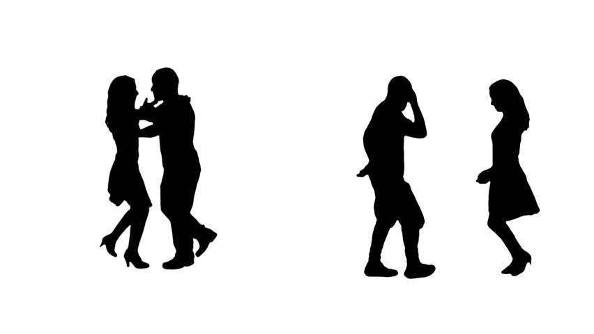 Dancers silhouettes. Salsa couples. Alpha matte. More options in my portfolio.