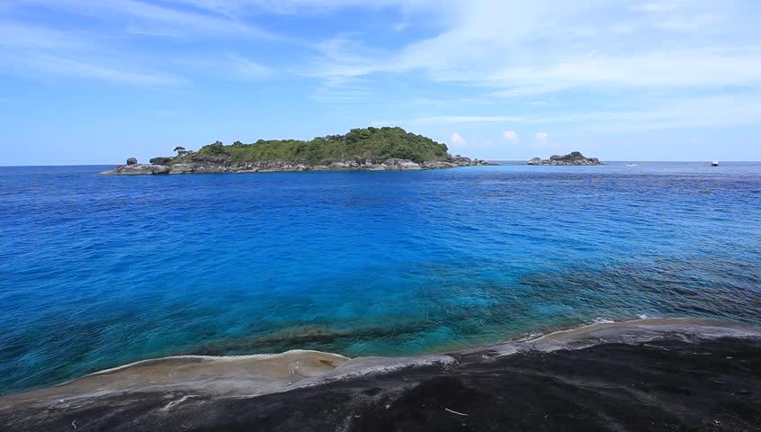 Blue Sky Sea In Similan Island, Phang-nga, Thailand Stock Footage Video 59482...
