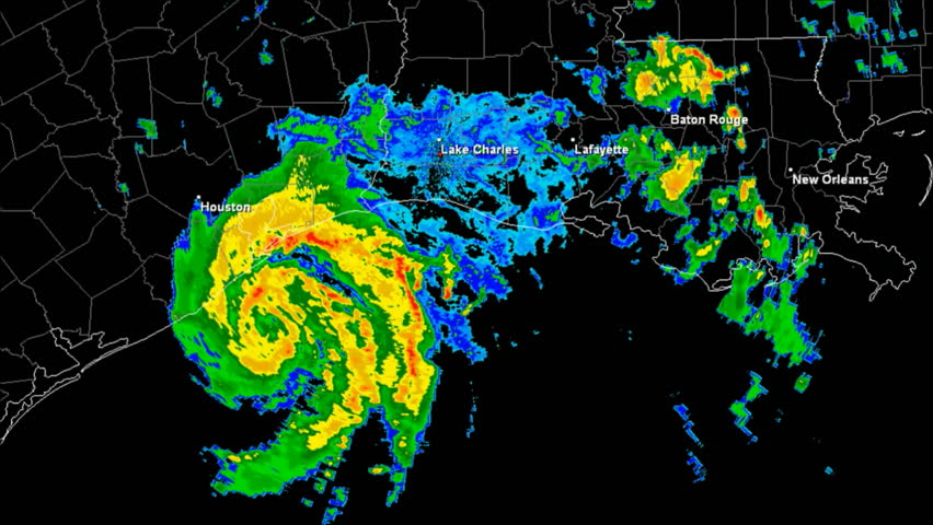 Hurricane Humberto (2007) Doppler Radar Landfall Time Lapse / loop 189 frames created using data provided by NOAA County / State borders and labels for all major cities are visible