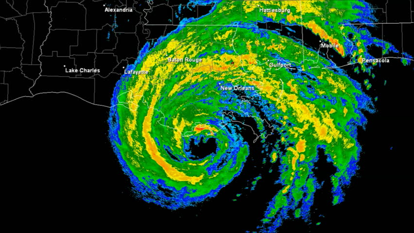 Hurricane Gustav (2008) Doppler Radar Landfall Time Lapse / loop. 188 frames created using data provided by NOAA. County / State borders and labels for all major cities are visible.