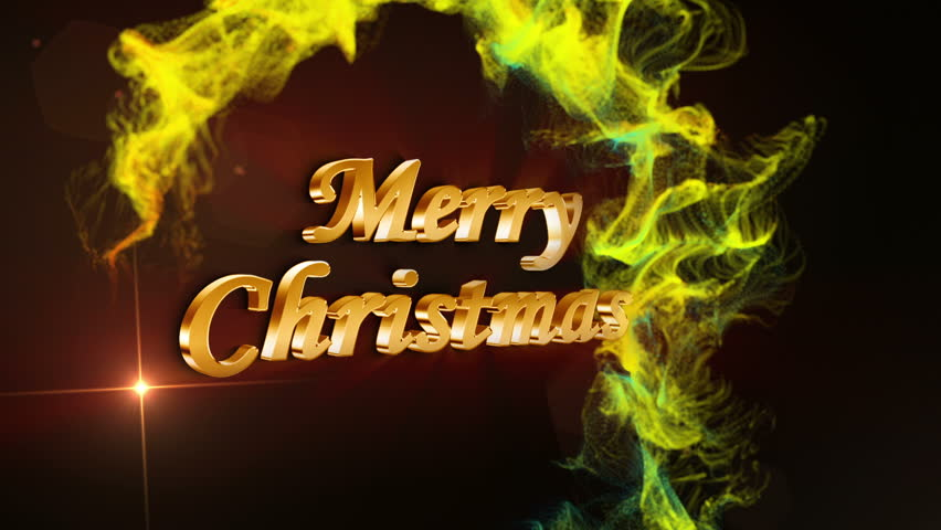 Merry Christmas in Particles