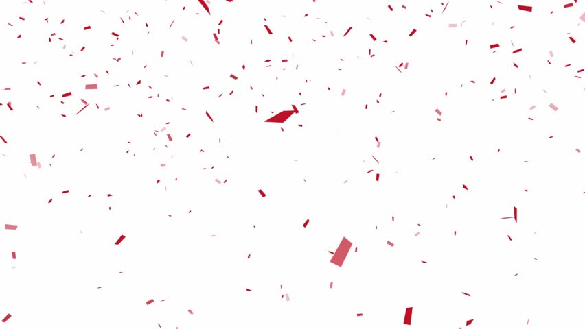 Red Confetti - alpha channel included
