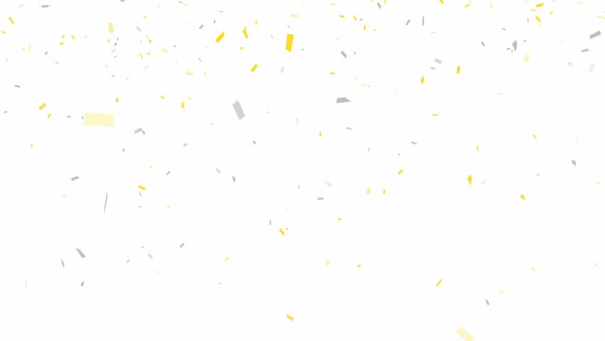 Gold and Silver Confetti - alpha channel included   - HD stock video clip
