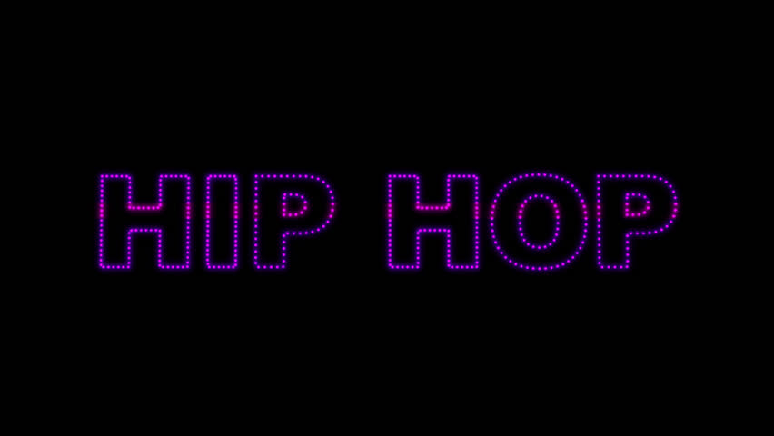 Set of 10 Hip Hop text LEDS reveals with alpha channel