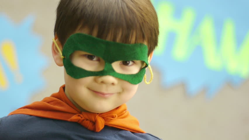 Superhero Boy Smiles For The Camera, Disappears | Shutterstock HD Video #4991654