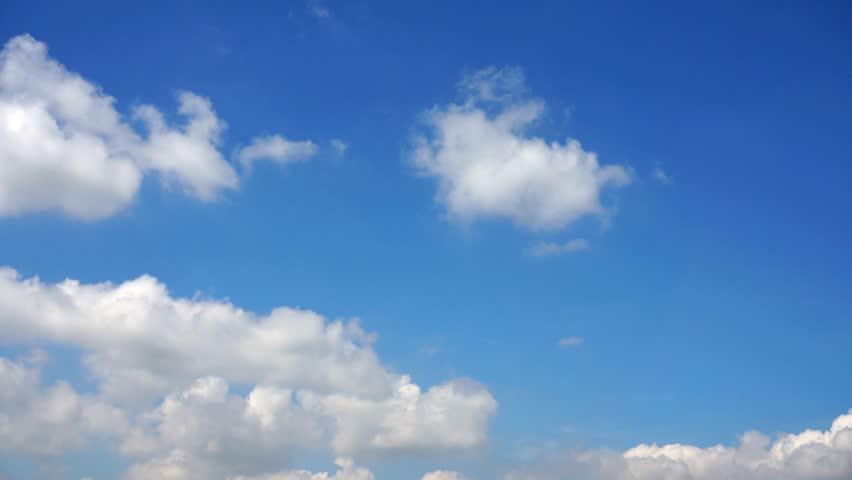 Beautiful cloud timelapse - HD stock footage clip