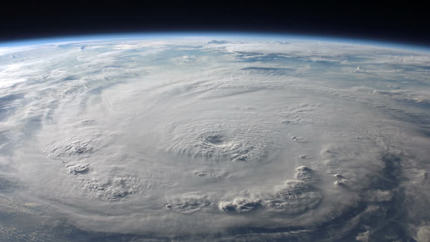 Super Typhoon / Hurricane as viewed from space.