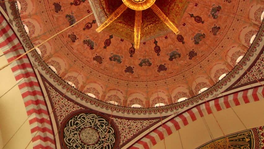 ISTANBUL, TURKEY - OCTOBER 29, 2013: Suleymaniye Mosque was built by Mimar