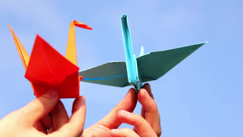 Origami, the art of origami - HD stock video clip