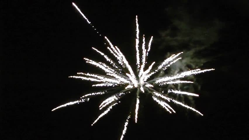 Clip Art Fireworks With Black Background
