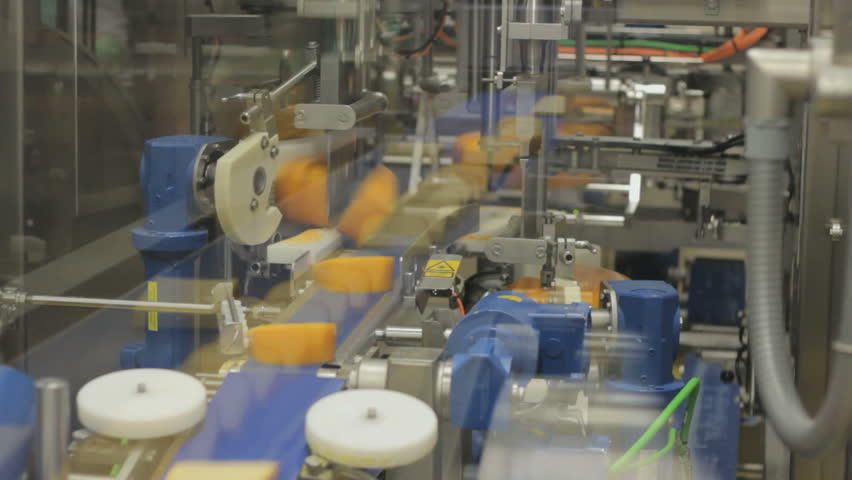 Cheese Factory - Assembly line | Shutterstock HD Video #5050028