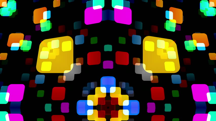 Kaleidoscope Light Background. - HD stock footage clip