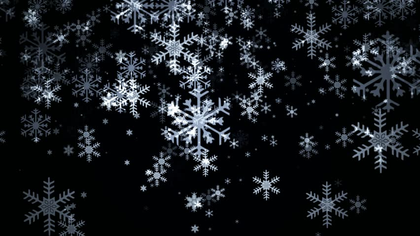 snowflakes falling on black background stock footage video