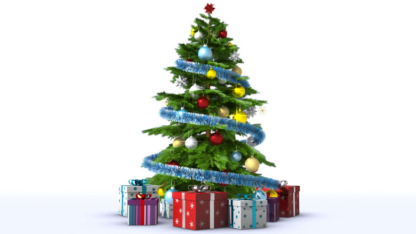 Growing Christmas tree with toys and gift boxes #5096180