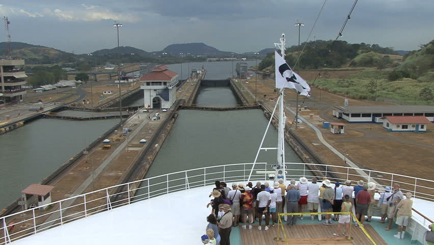 Panama Canal Miraflores Locks - HD stock footage clip