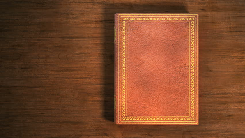 Old Book Cover Hd ~ Animation of a book opening turns several pages and works