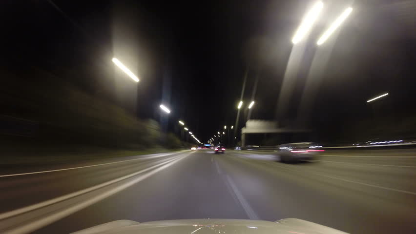 POV Time lapse of a car driving along the motorway at night   Shutterstock HD Video #5124674