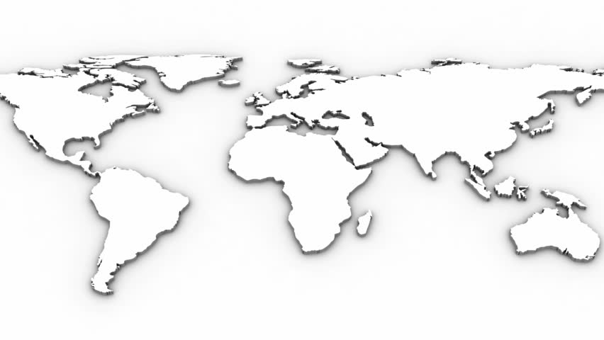 World Map. White Background Stock Footage Video 5131757