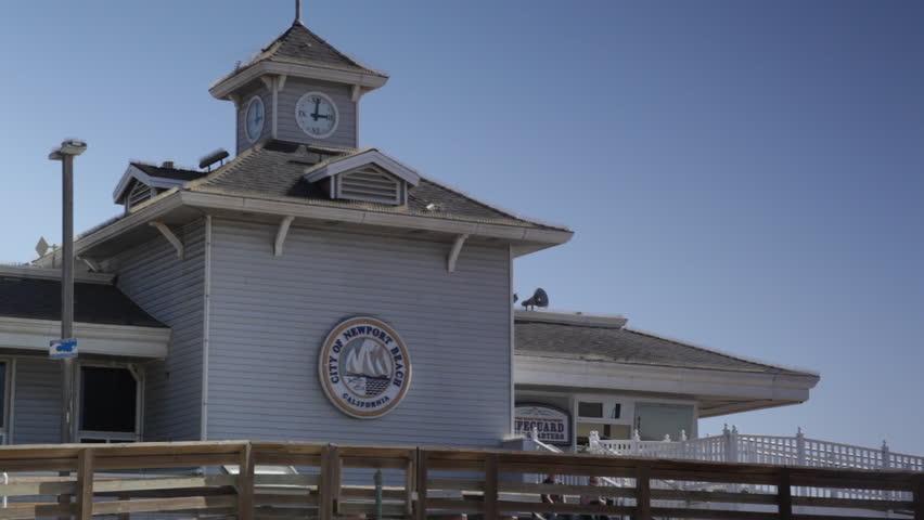 Newport Beach, California - October 4, 2013 - Medium shot of the Lifeguard Headquarters.