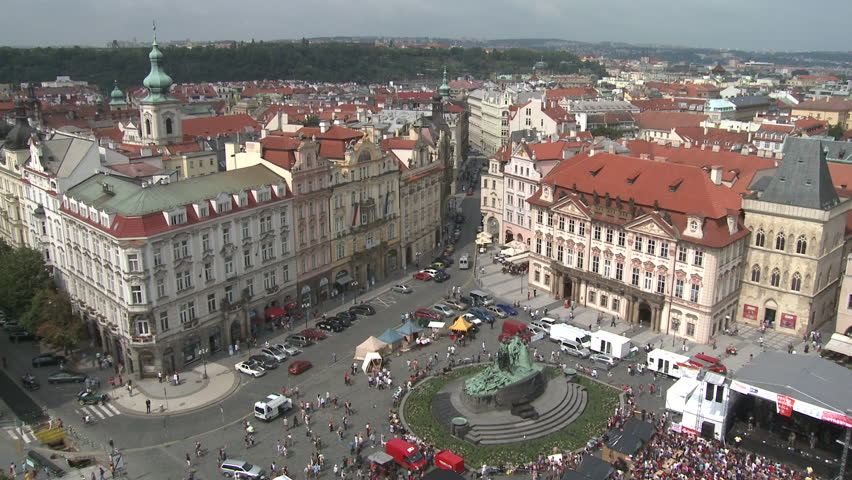 City of Prague in Czech Republic - HD stock footage clip