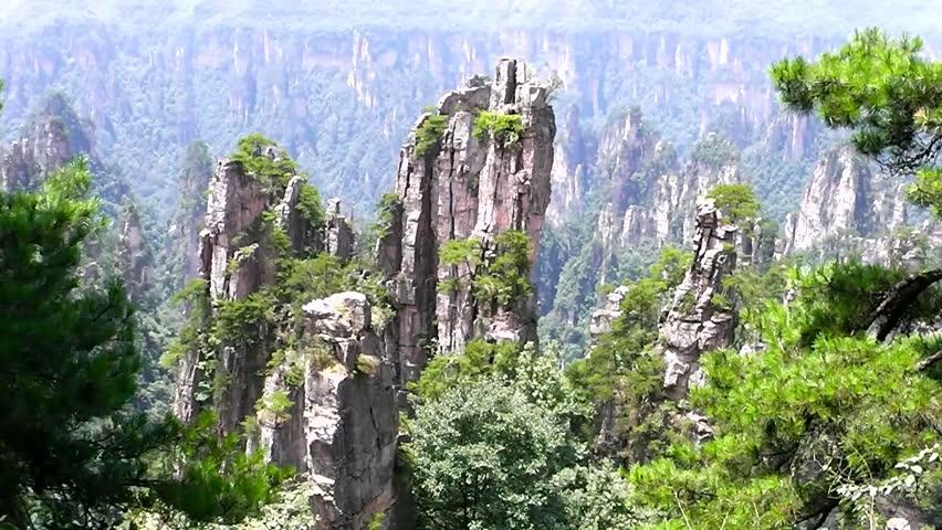 zhangjiajie national park china avatar mountains stock