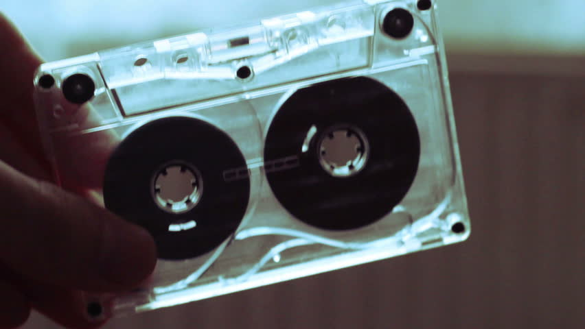 Manually Rewind a Cassette Tape With a pen. | Shutterstock HD Video #5174840