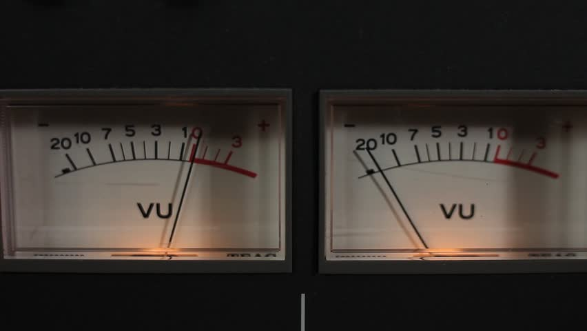 A Close-up of VU Meters on a Recorder.