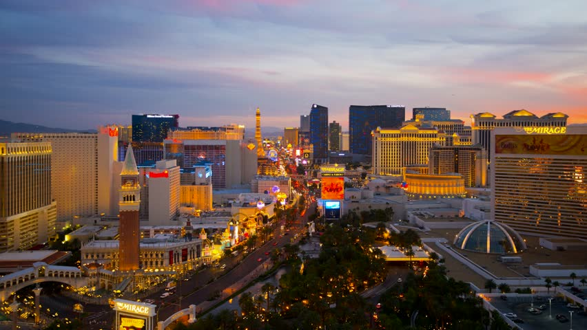 USA, Nevada, Las Vegas, The Strip, Day to Night TIME LAPSE | Shutterstock HD Video #5191256