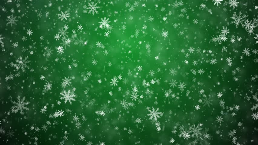 Christmas Snow Fall With Glints Or Flower Pattern