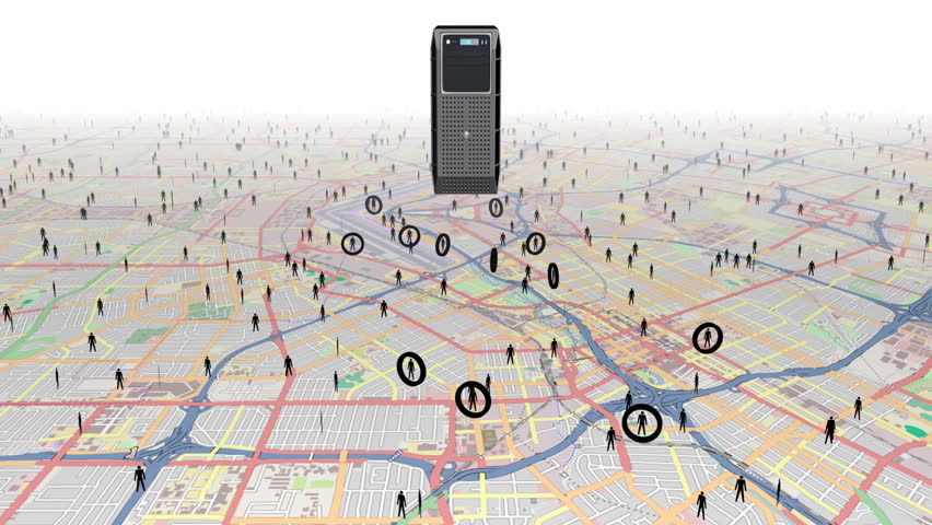 Tracking people using digital surveillance.