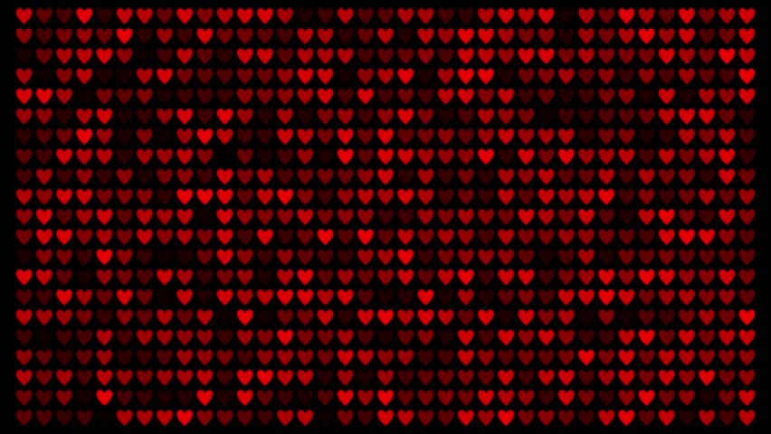 Grid of red love hearts fading in and out. Looping animation | Shutterstock HD Video #5204207