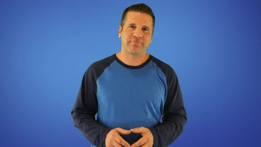 Actor Giving Generic Weight Loss Supplement Testimonial on a Blue Background