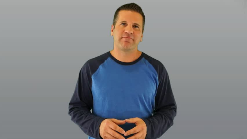 Actor Giving a Generic Positive Ebook Review on a Gray Background