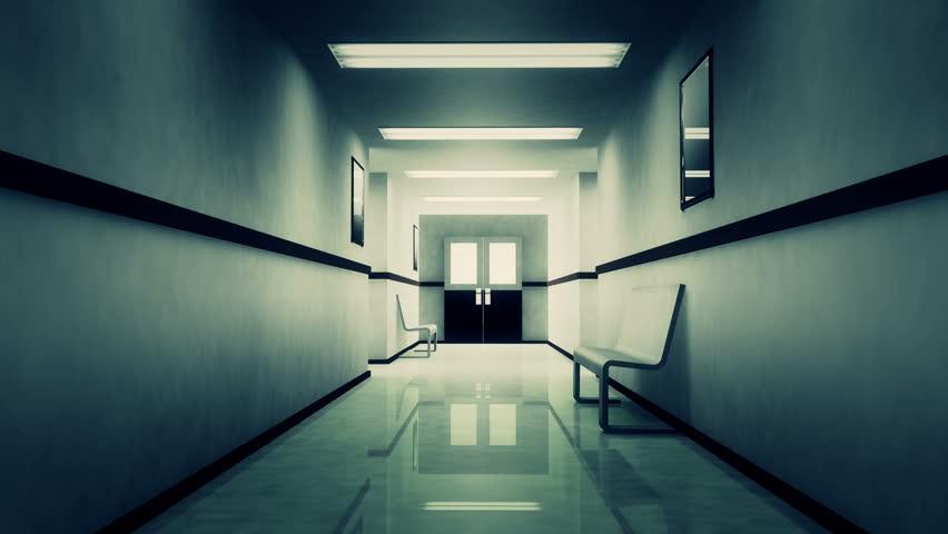 4K Scary Horror Hospital Corridor 4K 3840 x 2160 Ultra High Definition