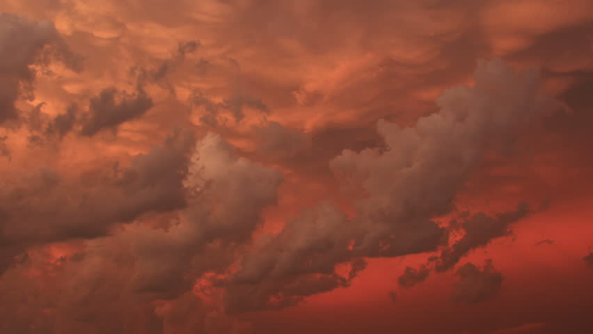 Beautiful Clouds 1. Richly colored clouds during an active storm sunset. Shot in