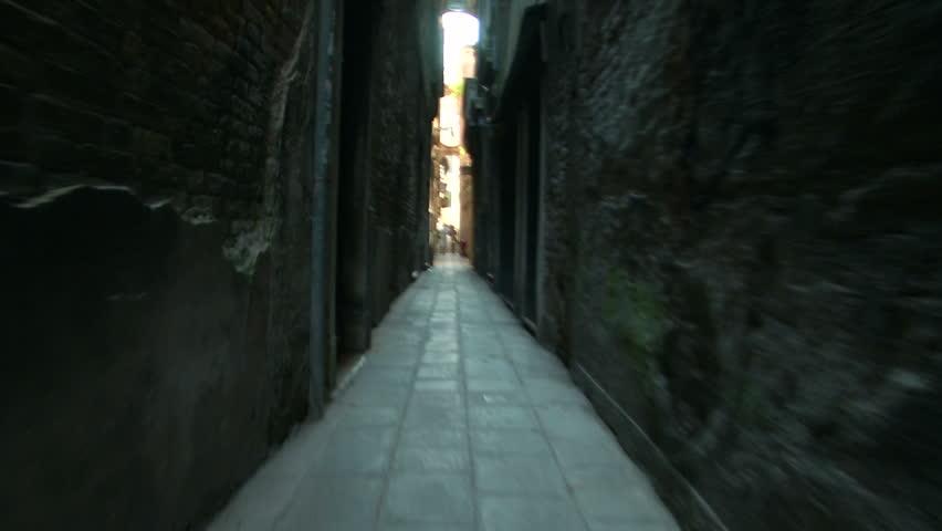 A calle in the area of the Cannaregio Sestiere, Venice (Italy) - HD stock footage clip