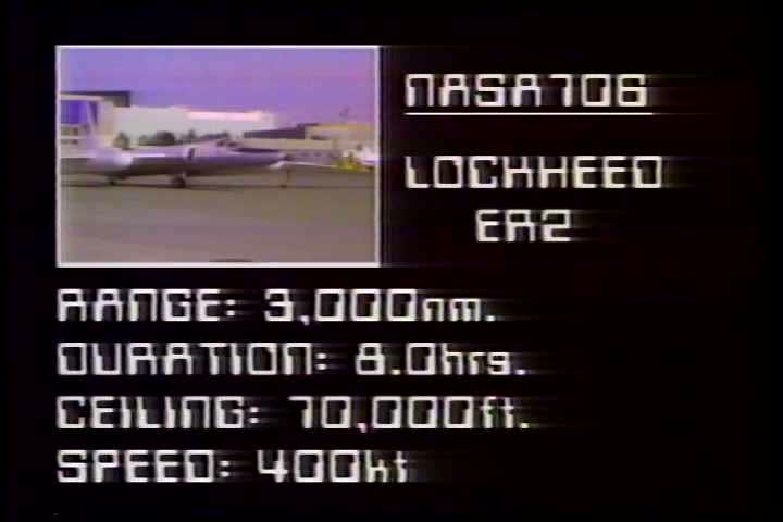 A 1980s NASA film discussing the aircraft used by the Ames Research Center in astronomy and earth studies. This section address the U2 and ER2 high altitude aircraft. | Shutterstock HD Video #5273372