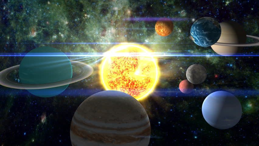 Approaching Our Solar System With All The Planets