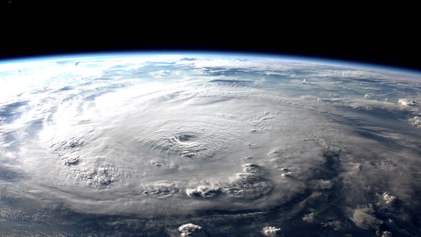 Large hurricane making landfall.