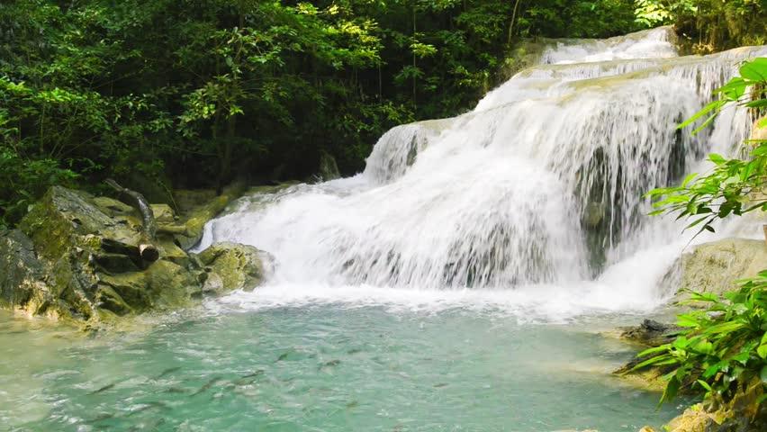 Huay Mae Khamin Waterfall, Paradise waterfall in Tropical ...