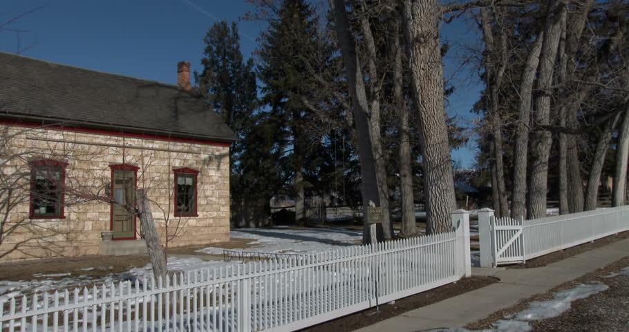 Spring City Utah Jan 2014 Historic Old Rock Pioneer Home