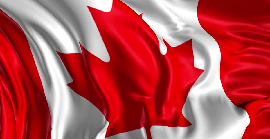 Flag of CanadaBeautiful 3d animation of Canada flag in loop mode
