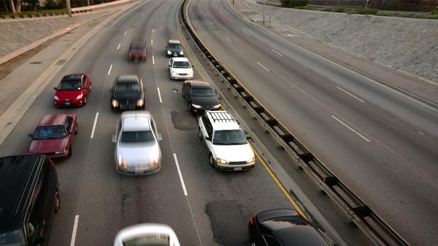 Highway Traffic 02 Loop Timelapse Highway Sunset - 4K stock video clip