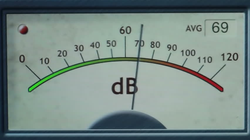 Analog Meter Needle : Electronic sound meter needle moves from noise stock