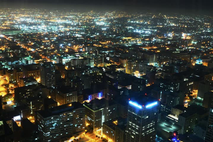 4K Night Cityscape Time Lapse of Downtown Los Angeles  | Shutterstock HD Video #5408183