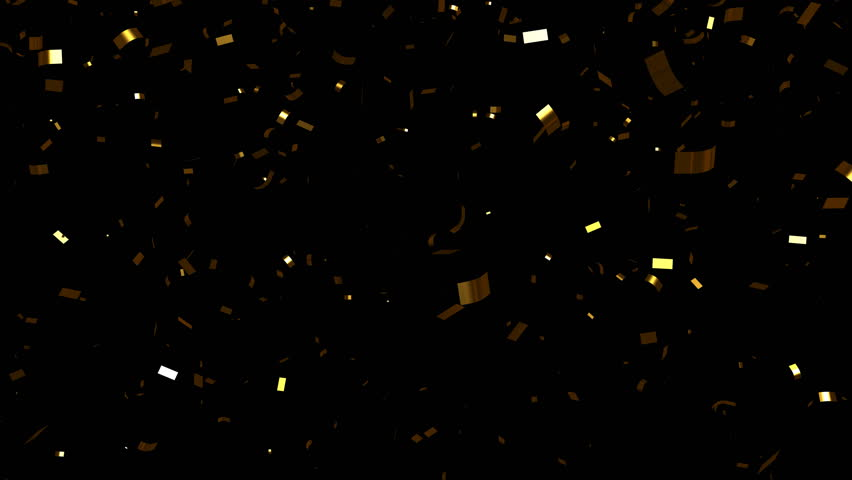 Falling gold foil confetti. With luma matte | Shutterstock HD Video #5432852